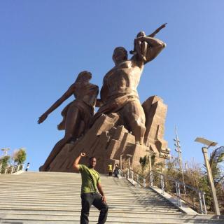 Refa1 @ the African Renaissance Monument outside Dakar, Senegal