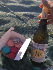 My picnic spread at the top of Signal Hill waiting for the sun to set over the Atlantic Ocean. I snagged some tasty macaroons and a bottle of wine from The V&A Food Market.