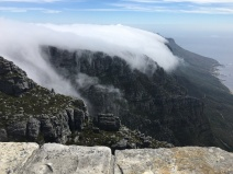 Picture taken at the top of Table Mountain--the rolling clouds were everything!