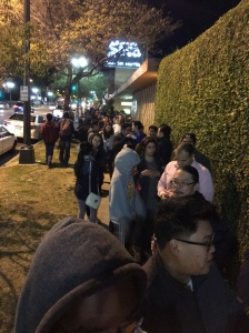 The line down the block.