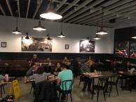 Open floor plan on the inside of the restaurant