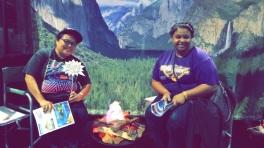 Yosemite camping booth