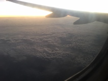 Sunrise from the plane.